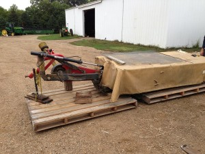 Mower on Pallet