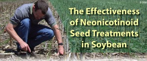 Neonicotinoid soybean seed treatment