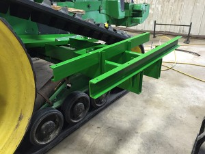 Brackets mounted on tractor